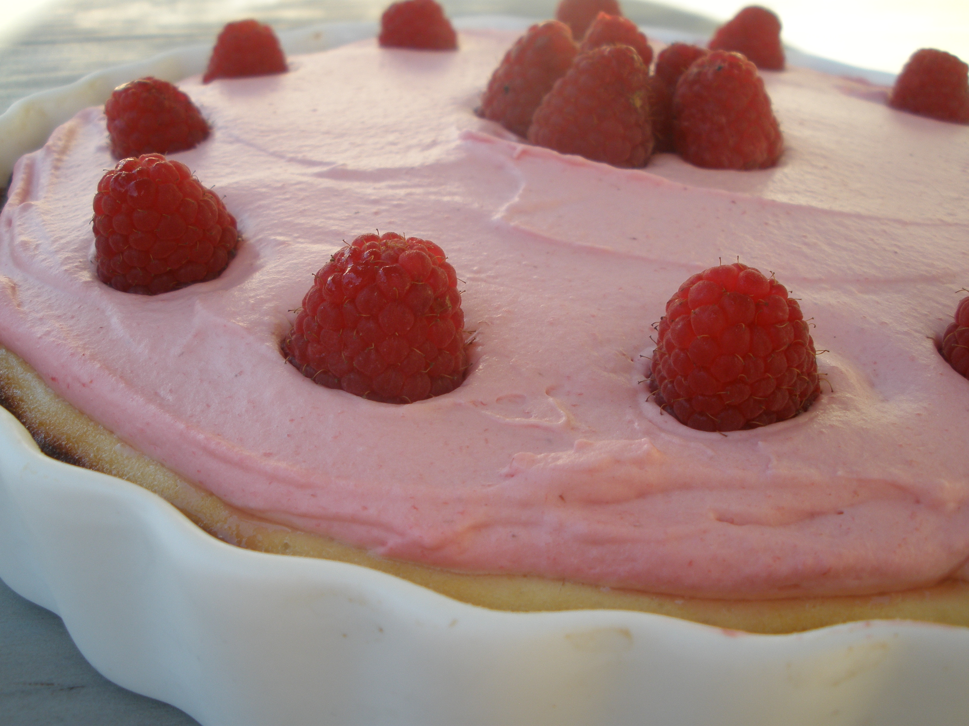 Lemon Ricotta Tart with Raspberry Mousse | Sweet Cuppicakes